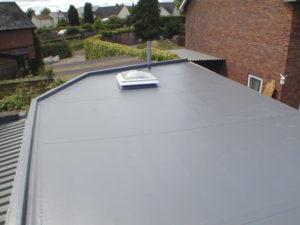 Saranafil warm roof with domed skylight.
