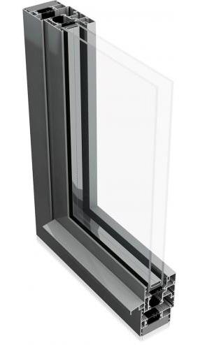 Aluminium tilt and turn cross-section