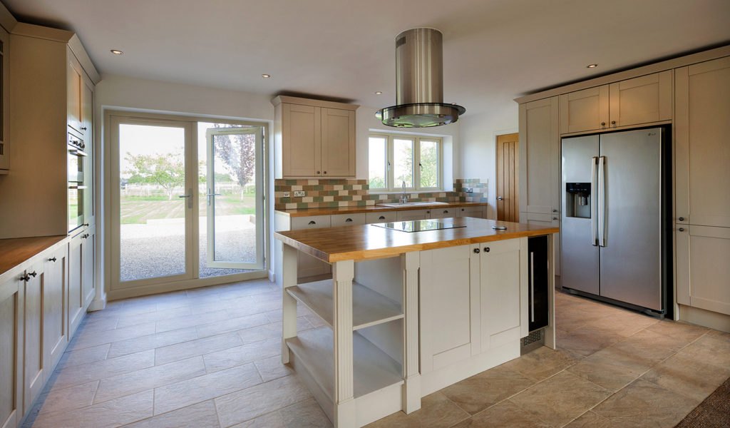 French doors in a kitchen