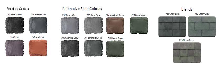 Guardian Metrotile shingle tile colour range